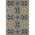 Indoor Outdoor Hudson Chocolate/ Multi Rug (3'11 x 5'10)