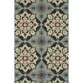 Indoor Outdoor Hudson Chocolate/ Multi Rug (3&#39;11 x 5&#39;10)