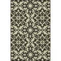 Indoor Outdoor Hudson Ivory/ Chocolate Rug (9'2 x 12'1)