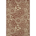 Indoor Outdoor Hudson Rust/ Ivory Rug (3'11 x 5'10)