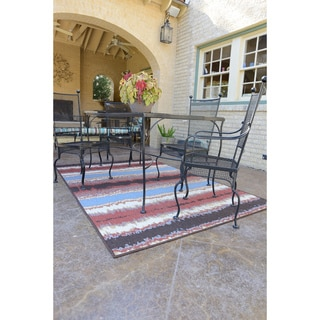 Indoor Outdoor Hudson Flame Rug (7'10 x 10'9)