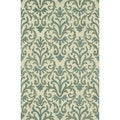 Hand-Tufted Meadow Ivory/ Lt. Blue Wool Rug (3'6 x 5'6)