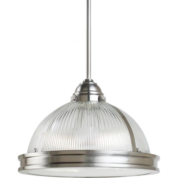 Pratt Street Prismatic 2-light Brushed Nickel Pendant