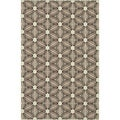 Indoor Outdoor Hudson Ivory/ Sunset Rug (3'11 x 5'10)