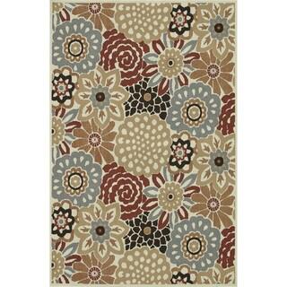 Indoor Outdoor Hudson Floral Rug (3'11 x 5'10)