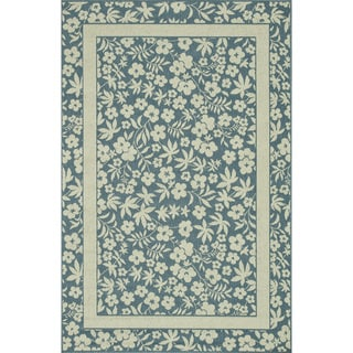 Indoor Outdoor Hudson Blue/ Ivory Rug (5'2 x 7'5)