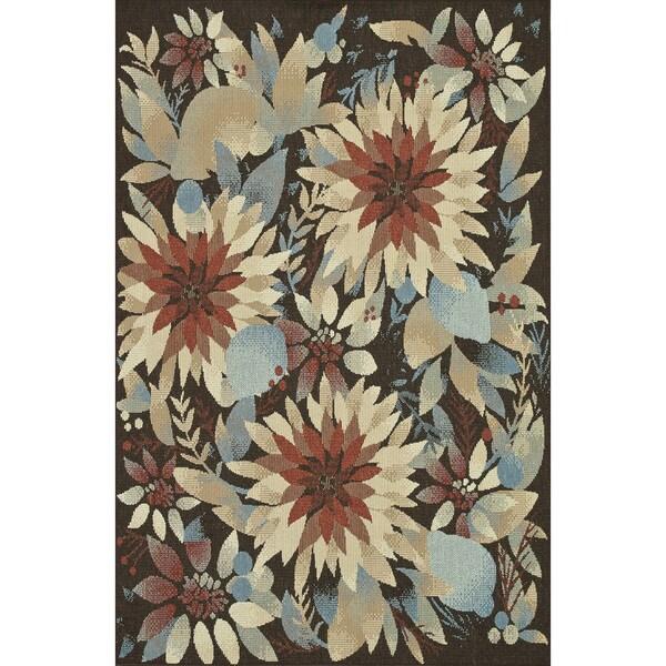 Indoor Outdoor Hudson Multi/ Floral Rug (9'2 x 12'1)