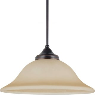 Brockton 1-light Burnt Sienna Downlight Pendant with Amber Scavo Glass
