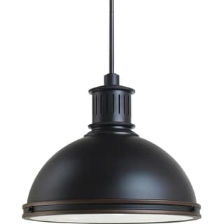 Pratt Street Metal 3-light Autumn Bronze Pendant with Glass Diffuser