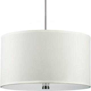 Dayna 3-light Brushed Nickel Shade Pendant with Faux Silk Shade