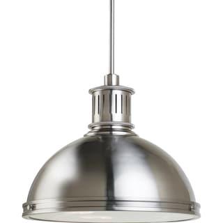 Pratt Street Metal 3-light Brushed Nickel Pendant with Glass Diffuser