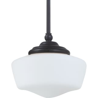Academy Small 1-light Heirloom Bronze Pendant with Satin White Schoolhouse Glass