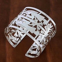 Sterling Silver 'Tree of Life' Bracelet (Mexico)