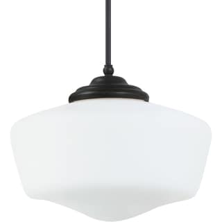 Academy Extra Large 1-light Heirloom Bronze Pendant with Satin White Schoolhouse Glass