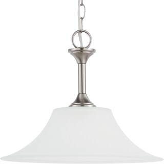 Holman 1-light Brushed Nickel Downlight Pendant with Satin Etched Glass