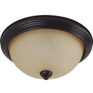 3-light Burnt Sienna Ceiling Flush Mount Fixture