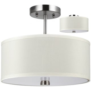 Dayna Brushed Nickel Semi-flush 2-Light Pendant Fixture