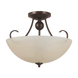 Lemont Burnt Sienna Indoor Semi-Flush 3-Light Convertible Fixture