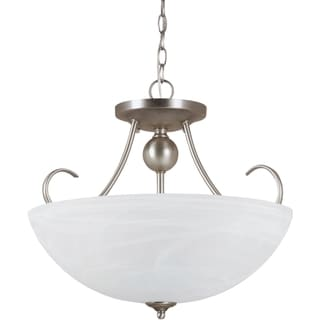 Lemont Antique Brushed Nickel Indoor Semi-Flush 3-Light Convertible Fixture