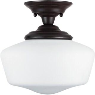 Academy 1-light Heirloom Bronze Semi Flush Fixture
