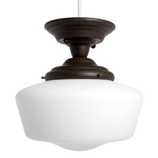 Academy 1-light Heirloom Bronze Semi Flush Fixture
