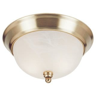 Landon Polished Brass 3-Light Flush Mount Fixture