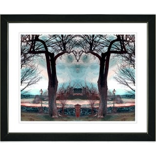 Studio Works Modern 'Homestead - Turquoise' Framed Art Print