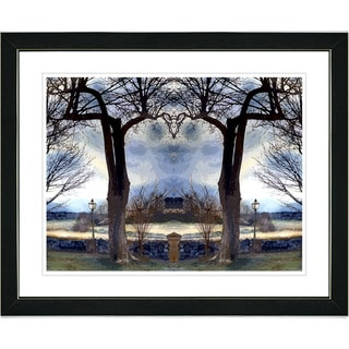 Studio Works Modern 'Homestead - Blue' Framed Art Print