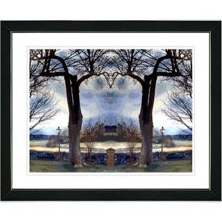 Studio Works Modern 'Homestead - Blue' Framed Art Print