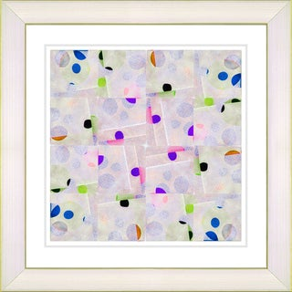 Studio Works Modern 'Snowflake Symmetry - Purple' Framed Art Print