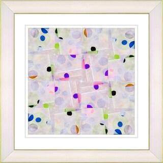 Studio Works Modern 'Snowflake Symmetry - Purple' Framed Art Print