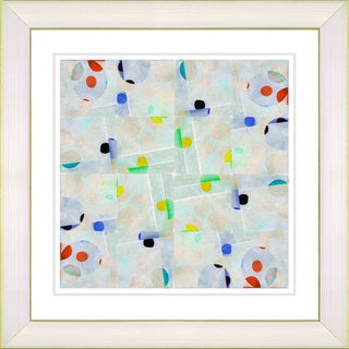 Studio Works Modern 'Snowflake Symmetry - Green' Framed Art Print