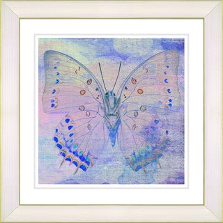 Studio Works Modern 'Pastel Butterfly - Blue' Framed Art Print