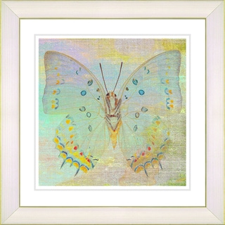 Studio Works Modern 'Pastel Butterfly - Yellow' Framed Art Print