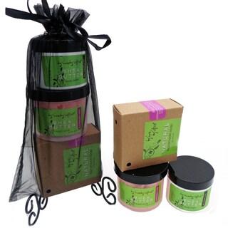 Black Raspberry Vanilla Natural Soap, Renewing Sugar Scrub, Hydrating Shea Butter Balm Gift Set