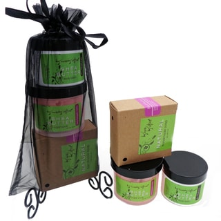 Black Raspberry Vanilla Natural Soap, Renewing Sugar Scrub, Hydrating Shea Butter Balm Gift Set