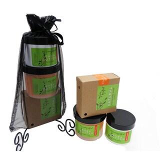 Citrus Blossom Natural Handmade Soap, Renewing Sugar Scrub and Hydrating Shea Butter Balm Gift Set