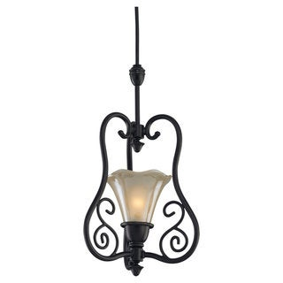 Trudy Antique Bronze 1-Light Transition Pendant Fixture