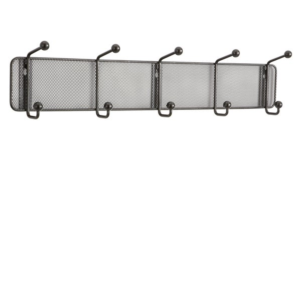 Safco 5 Hook Onyx Mesh Wall Rack