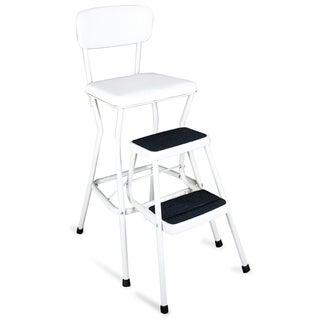 Cosco Retro White Counter Chair / Step Stool