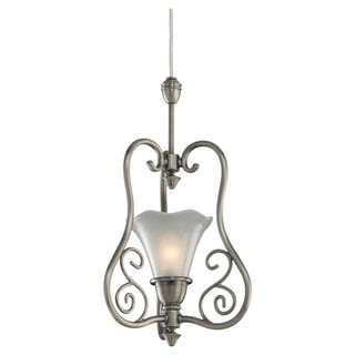 Sea Gull Lighting 1-Light Antique Brushed Nickel Finish Transition Pendant
