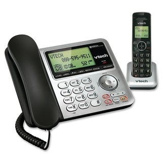 VTech CS6649 DECT 6.0 Expandable Corded/Cordless Phone with Answering
