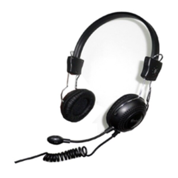 Connectland Computer/Audio Headset with Microphone, Over the Head, On