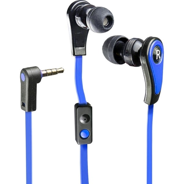Connectland Blue Stereo In-ear Earphone with Microphone for Digital Audio