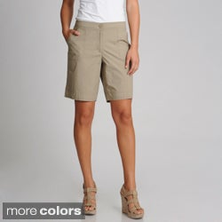 threehearts Women's Mini Zip Shorts