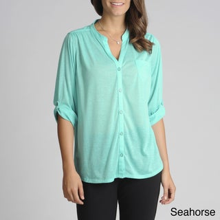 threehearts Women's Tab Sleeve Shirt