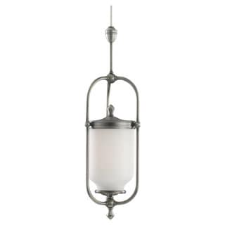 Sea Gull Lighting 1-Light Transition Antique Brushed Nickel Finish Pendant
