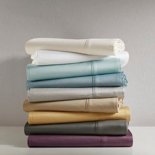 Madison Park 600 Thread Count Pima Cotton Sateen 4-piece Sheet Set