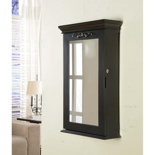 Morris Black Wall Armoire with Lock