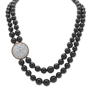 PalmBeach Two-tone Onyx Bead Necklace Naturalist